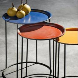 Lot de 3 Tables Basses Gigogne Ludics, Hanjel multicolore