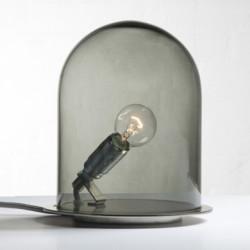 Lampe à poser dôme, Ebb & Flow gris fumé Diamètre 18 cm