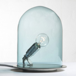 Lampe à poser dôme, Ebb & Flow bleu Diamètre 18 cm