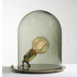 Lampe à poser dôme, Ebb & Flow vert olive Diamètre 18 cm