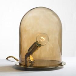 Lampe à poser dôme, Ebb & Flow marron Diamètre 18 cm