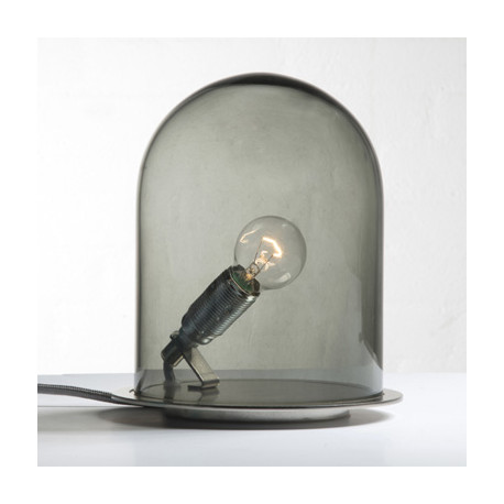 Lampe à poser dôme, Ebb & Flow gris fumé Diamètre 23 cm