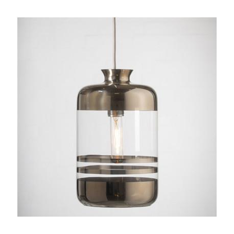 Suspension à rayures métalliques, Ebb & Flow transparent, rayures platine