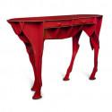 Console cheval Elisée, Ibride rouge brillant