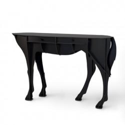 Console cheval Elisée, Ibride noir mat brossé