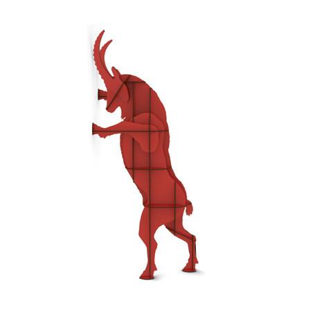Rangement mural Fausto, Ibride rouge brillant