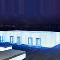 Bar Vela 200cm, Vondom blanc Lumineux à ampoule