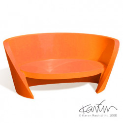 Canapé design Rap, Slide design orange