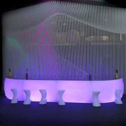 Module courbe Bar Design Fiesta, Vondom lumineux LED RGBW filaire