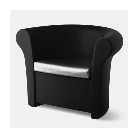 Fauteuil Kalla, Slide Design noir Mat