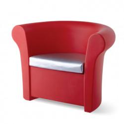 Fauteuil lumineux Kalla, Slide Design rouge Mat