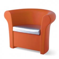 Fauteuil lumineux Kalla, Slide Design orange Mat