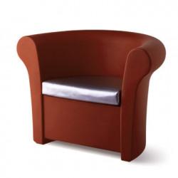 Fauteuil lumineux Kalla, Slide Design chocolat Mat