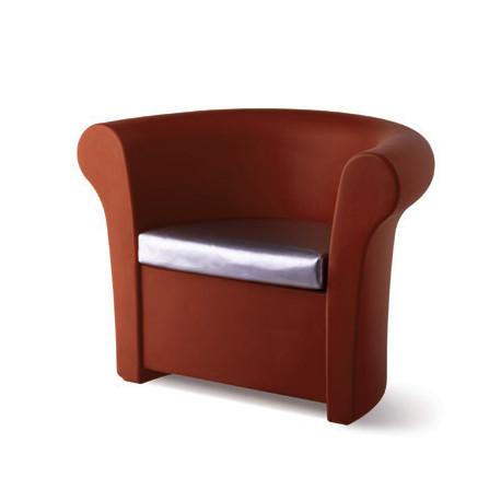 Fauteuil Kalla, Slide Design chocolat Mat