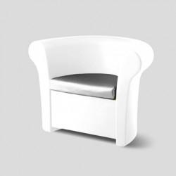 Fauteuil lumineux Kalla, Slide Design blanc Laqué