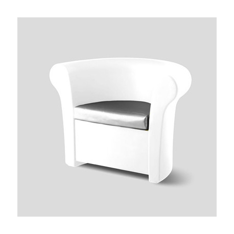 Fauteuil Kalla, Slide Design blanc brillant laqué