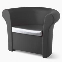 Fauteuil lumineux Kalla, Slide Design gris Laqué