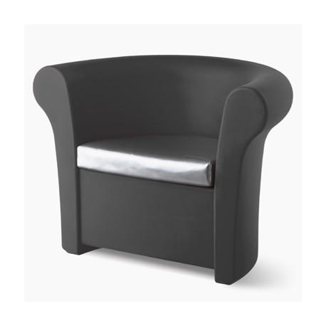 Fauteuil Kalla, Slide Design gris laqué brillant