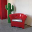 Fauteuil Kalla, Slide Design rouge laqué brillant