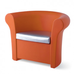Fauteuil lumineux Kalla, Slide Design orange Laqué