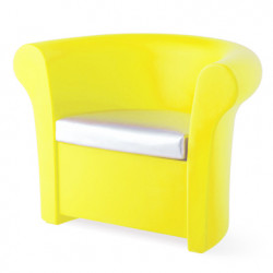 Fauteuil lumineux Kalla, Slide Design jaune Laqué