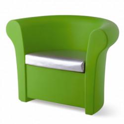 Fauteuil lumineux Kalla, Slide Design vert Laqué