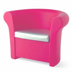 Fauteuil lumineux Kalla, Slide Design magenta Laqué