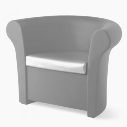 Fauteuil Kalla, Slide Design argent laqué brillant