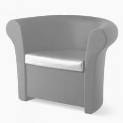 Fauteuil lumineux Kalla, Slide Design argent Laqué