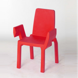 Chaise Doublix, Slide Design rouge