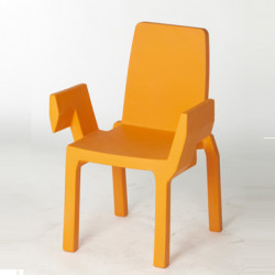 Chaise Doublix, Slide Design orange