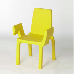 Chaise Doublix, Slide Design jaune
