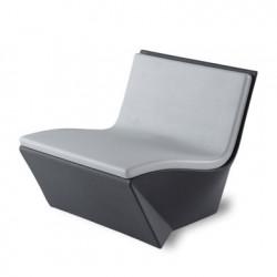 Coussin Fauteuil Kami Ichi, Slide Design gris clair