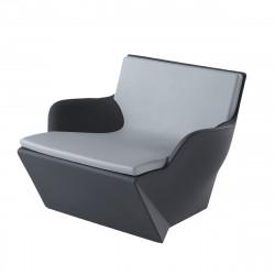 Coussin Fauteuil Kami San, Slide Design gris