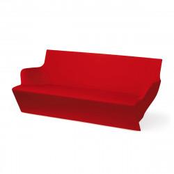 Canapé modulable Kami Yon, Slide design rouge Laqué