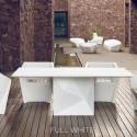 Table Faz, Vondom blanc Longueur 200 cm