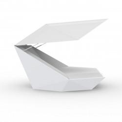 Fauteuil design avec Parasol Faz, Vondom blanc