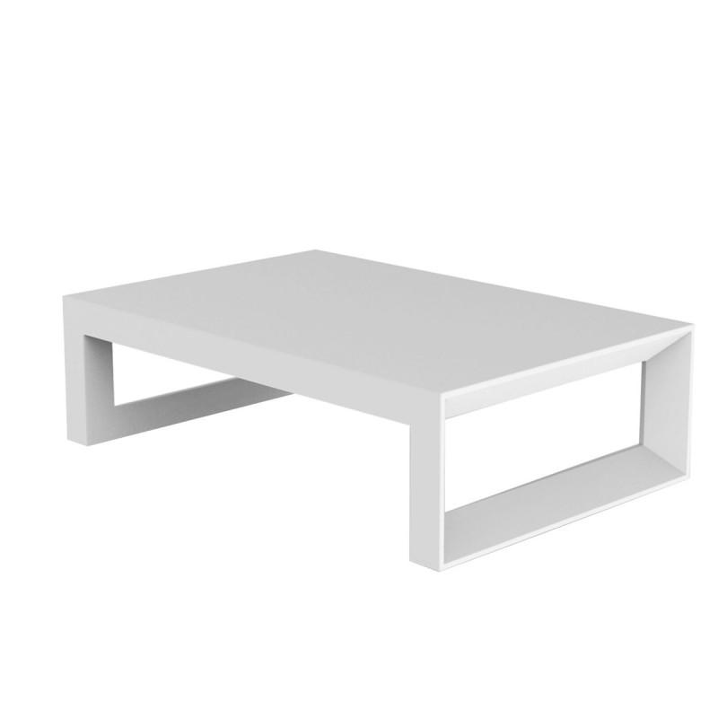 Table Basse Frame 120 Cm Vondom Blanc Laque Cerise Sur La Deco
