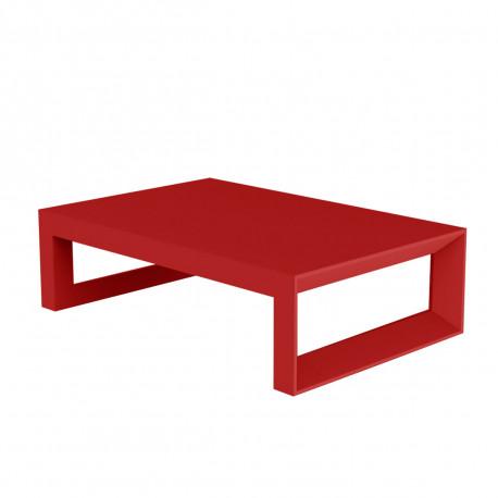 Table Basse Frame 120 Cm Vondom Rouge Laque Cerise Sur La Deco
