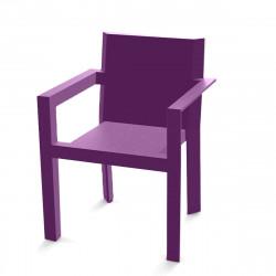 Fauteuil design frame vondom ecru mat cerise sur la deco - Fauteuil design violet ...