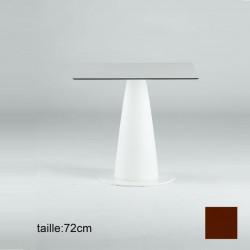 Table carré Hoplà, Slide chocolat 69x69xH72 cm