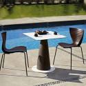 Table carrée Hoplà, Slide lumineux 69x69xH72 cm