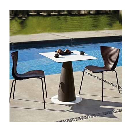Table carrée Hoplà, Slide noir 79x79xH72 cm