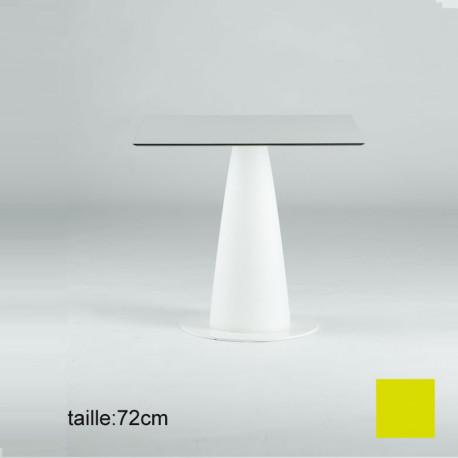 Table carrée Hoplà, Slide jaune 79x79xH72 cm