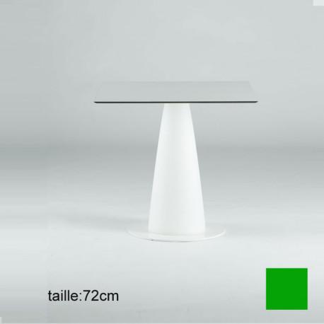 Table carrée Hoplà, Slide vert 79x79xH72 cm