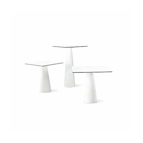 Mange-debout carré Hoplà, Slide blanc 69x69xH110 cm
