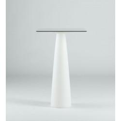 Mange-debout carré Hoplà, Slide lumineux 69x69xH110 cm