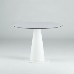 Table ronde Hoplà, Slide design blanc D69xH72 cm