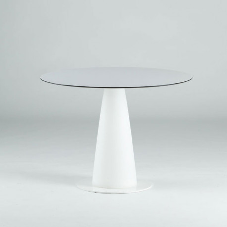 Table ronde Hoplà, Slide design blanc D69xH72 cm