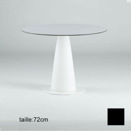 Table ronde Hoplà, Slide design noir D69xH72 cm